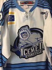 ECHL AHL WHL 2012-2013 EVANSVILLE ICEMEN BRETT SONNE GAME WORN HOCKEY JERSEY