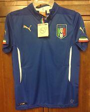 Puma FIGC Italia Italy Football Soccer Blue Home Jersey Boys YL L NWT New $70