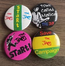 More details for the jam set of 4 button badges - mod punk rock band - paul weller 25mm pins