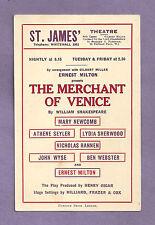 """Ernest Milton """"MERCHANT OF VENICE"""" Mary Newcomb / John Wyse 1932 London Postcard"""