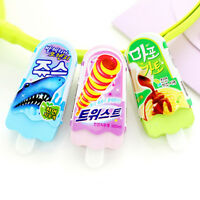 Cute Ice Creamsicle Eraser Rubber Pencil Stationery Child Toy 2pcs FO