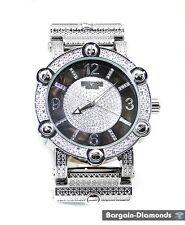 Diamond retro big silver dress watch bling ice ice out hip hop designer screw