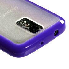Purple Clear TPU Gel GUMMY Hard Skin Case Cover T-Mobile Samsung Galaxy S II 2