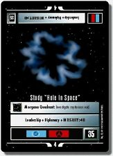 """Star Trek CCG Premiere BB Limited Study """"Hole In Space"""""""