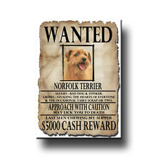 Norfolk Terrier Wanted Poster Fridge Magnet New Dog