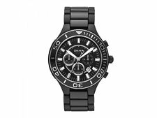 DKNY Men's Chrono Watch NY1490 Stainless Steel Black Ceramic Round Sport $295.00