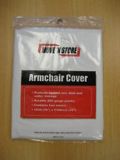 TWIN PACK ARMCHAIR DUST COVERS DURABLE PROTECTIVE SHEET