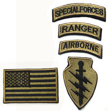 5-IN-1 U.S.A Flag Airborne Special Forces RANGER Embroidered BADGE PATCH