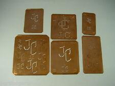 6 x JC Merkenthaler Monogramm, Kupfer Schablonen, Stencils, Patrons broder