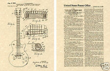 GIBSON LES PAUL PATENT Art Print guitar Ted McCarty 1955 READY TO FRAME