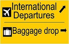 Aéroport de reproduction signe, stag & Poule Cadeau, départs aéroport SIGNE