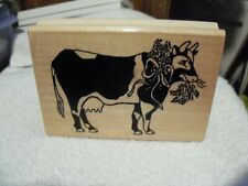 1994 Stamping Sensations Country Cow Wood Rubber Stamp An105U