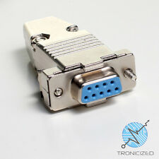 9 Pin hembra conector D-sub para soldadura RS232 Serial DB9 y Full Metal Campana