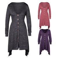 Women Hoodie Dress V Neck Hooded Tops Sweatshirt Sweater Asymmetric Plus Size