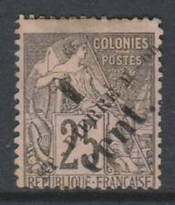 St Pierre & Miquelon - 1891, 1c on 25c Black on Pink stamp - Mint no Gum - SG 38