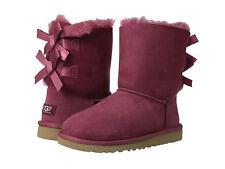 NIB Kids UGG Australia BAILEY BOW Red Plum Boots - Youth (Big Girl) 5 / Ladies 7