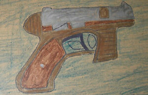 Gun Rosemary Person Outsider FOLK ART DRAWING African-American   wife of Leroy