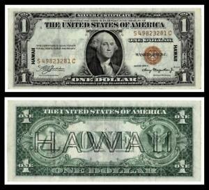 FR.#2300 1935-A $1  Hawaii Silver Certificates~~VERY FINE