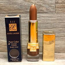 Estee Lauder Pure Color Crystal Honey Lipstick #322 Shimmer New Rare! Nib