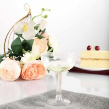 20 /pk  Clear 4oz Plastic Disposable Champagne Glass wedding/catering