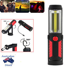 COB LED Flashlamp Work Light Magnet Flashlight With Hook Torch Lamp RECHARGEABLE