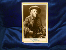 "William F. Cody ""BUFFALO BILL"" Cabinet Card Photograph A+ Reprint Old West CDV 2"
