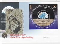 1st manned moonlanding first day stamps cover ref 16289