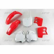 Nuevo Honda CR 500 95 96 97 98 99 00 kit de plástico de color rojo blanco plásticos