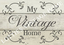 STENCIL A5 - MY VINTAGE HOME Furniture Fabric Airbrush ❤ Shabby Chic 190 MYLAR