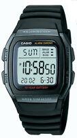 Casio Men's Quartz Illuminator Digital Alarm Black Resin 36mm Watch W96H-1BV