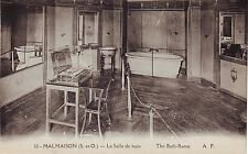 France Malmaison - La Salle de Bain old unused postcard
