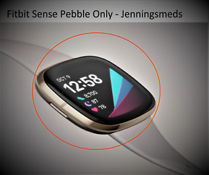Fitbit Sense Pebble Screen only - x2 colours Soft Gold Or Black / Graphite