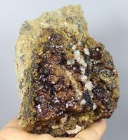 2.17lb Natural rare red garnet crystal cluster Mineral Specimen/China