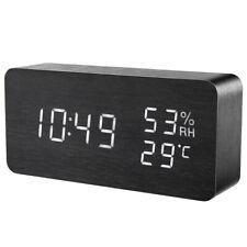 1x Alarm Clock Night Light Thermometer Digital LED Display-USB/Battery Operated