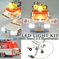 LED Light Kit for Lego 75828 Ecto-1 & 2 Ghostbusters Building Blocks Toys Bricks
