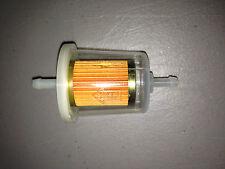 "GKI GF68PL 1/4"" Plastic Inline Gas/Fuel Filter fits Fram G1 Wix 33031 Napa 3031"
