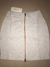 "Size 8 XS 26"" Women's Ladies ADIDAS NEO Light Grey Skirt ( Bottoms Jeans Trouser"