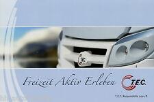 Prospetto Tec viaggio MOBIL 2010 opuscolo CAMPER brochure motorhomes CAMPER AUTO