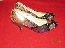 New Vintage Pumps Multi-Color Sequins VANITY Ann-Marino Costume Heels Size 8