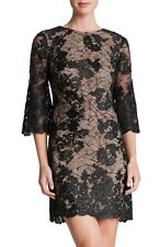 DRESS THE POPULATION 'MELODY' LACE SHIFT DRESS sz XL