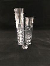 60 X Tall Plastic Cups Hi Ball Tumblers Glasses