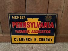 Vintage Farmers Association Member Sign Agriculture Farm Feed Seed Advertising