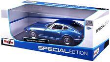 Maisto 1/18 1971 Datsun 240Z Diecast Model Car Blue (31170)