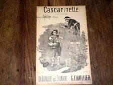 Cascarinette tyrolo sérénade partition pour chant 1900 Chaillier