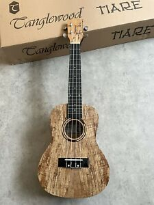 Spalted Maple Concert Ukulele RRP £139 Amazing with beautiful Arched Back