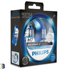 Philips H7 Color Vision Blue 12V 55W Azul Bombilla del faro 12972CVPBS2 Twin