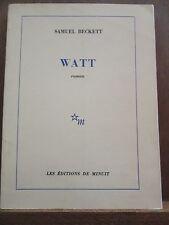 Samuel Beckett: Watt/ Les Editions de Minuit