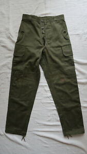 French Army M64 Combat Pant Satin 300 - 1972 - 68C small - Very good condition