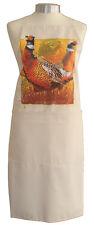 Impressive Pheasant Game Bird Quality Cotton Apron Double Pockets Baker Cook