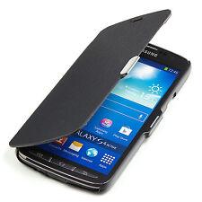 Samsung Galaxy S4 Active i9295 Slim2 Flip Case Tasche Hülle Cover schwarz A9